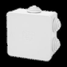 Коробка распределительная белая с кабельными вводами, IP54, 80х80х40