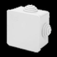 Коробка распределительная серая с кабельными вводами, IP54, 65х65х40