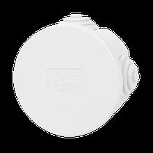 Коробка распределительная белая с кабельными вводами, IP54, Ø65х35