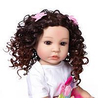Кукла реборн 55 см полностью виниловая девочка Снежана