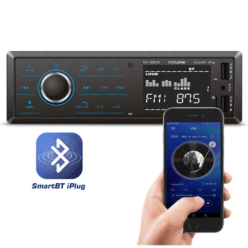 Автомагнитола MP3 проигрыватель CYCLONE MP-1085B BT