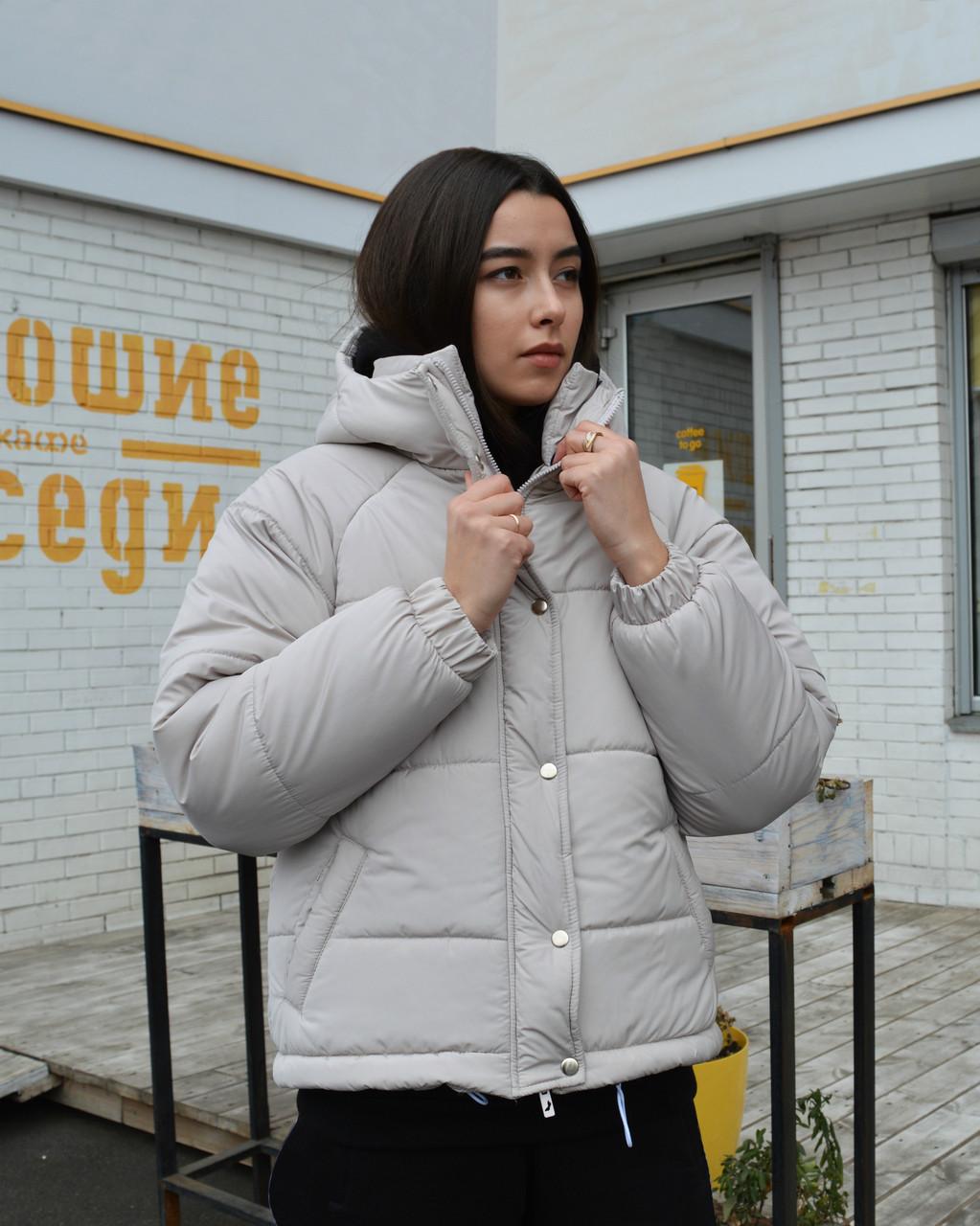 Куртка женская оверсайз серая от бренда ТУР модель Сара