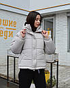 Куртка женская оверсайз серая от  бренда ТУР модель Сара, размеры: S, M, L, фото 2