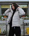 Куртка женская оверсайз серая от  бренда ТУР модель Сара, размеры: S, M, L, фото 3