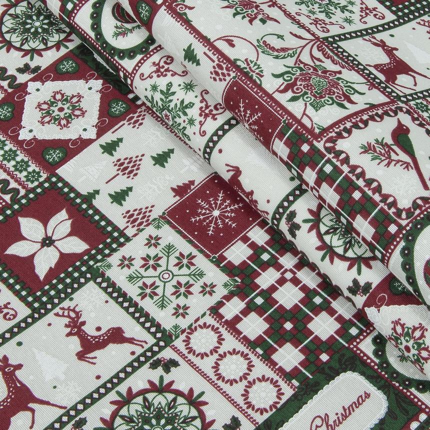 Декоративная новогодняя ткань Тирол