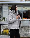 Куртка женская оверсайз серая от  бренда ТУР модель Сара, размеры: S, M, L, фото 4