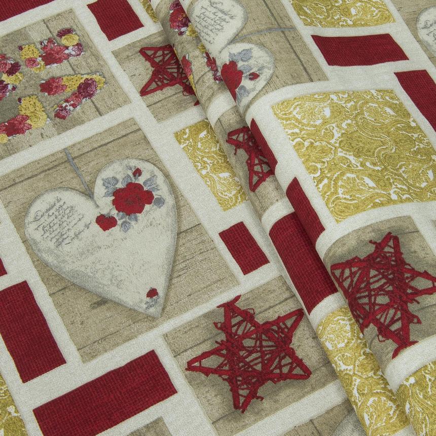 Декоративная новогодняя ткань Любовь