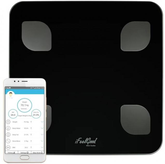 Весы ACS 2017A Напольный весы 180 kg с приложением на телефон