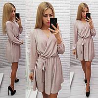 Платье на запах из люрекса, арт 406, пудра/нежно розовый, фото 1