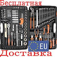 Большой набор инструмента для автомобиля с ключами Sthor 58690