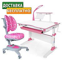 Детский комплект парта и стул растущие Evo-30 New c лампой + Onyx Duo