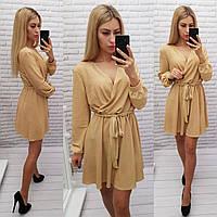 Платье на запах из люрекса, арт 406, золото