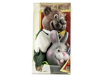 """Набір ляльок-рукавиць """"Ведмідь і Заєць"""" №В075/077"""