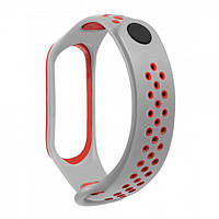 Браслет для Xiaomi Mi Band 3/4 TTech Nike Series Gray & Red