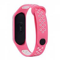 Браслет для Xiaomi Mi Band 3/4 TTech Nike Series Pink & White