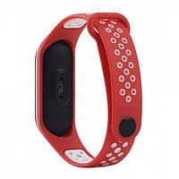 Браслет для Xiaomi Mi Band 3/4 TTech Nike Series Red & White