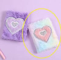 Пушистый блокнот сердце, фото 1