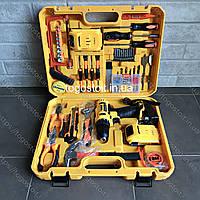 Шуруповерт DeWALT DCD791 ударный (24V 5A/h Li-Ion) c набором инструментов. Аккумуляторный шуруповерт Деволт