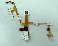 Шлейф для мобильного телефона Apple iPhone 3G + HF connector (наушники) белый