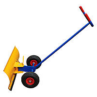Снігоочисник ручний, лопата для чистки снігу, пневмо колеса