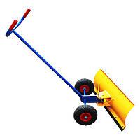 Лопата для уборки снега на колесах, пневмо колеса