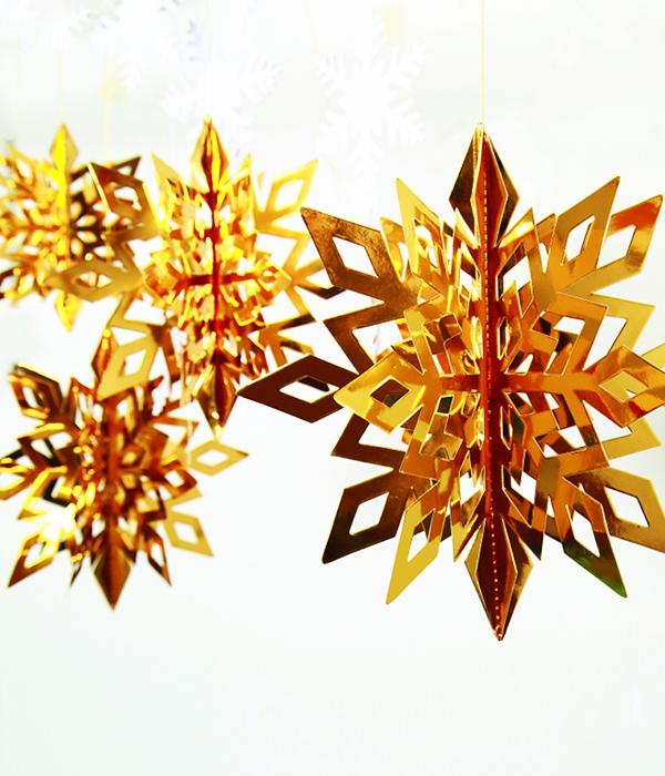 "Набор 3D снежинок ""Gold"" (6 шт.)"