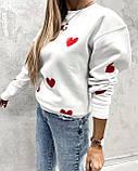 Свитер женский из трехнити с сердечками 42 - 46, 48-52, фото 5