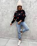 Свитер женский из трехнити с сердечками 42 - 46, 48-52, фото 7