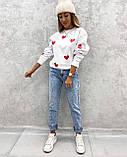 Свитер женский из трехнити с сердечками 42 - 46, 48-52, фото 8
