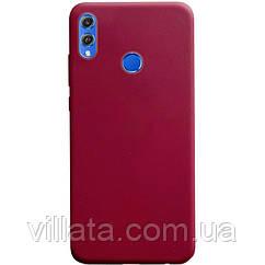 Силиконовый чехол Candy для Huawei Honor 8X Бордовый