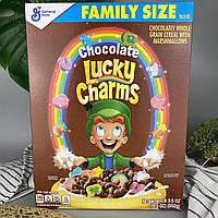 Сухой завтрак шоколадные хлопья с маршмэллоу Лаки Чармс Lucky Charms Family Size 552 г
