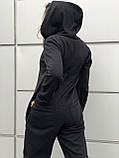 Комбинезон женский зимний на флисе чёрный, фото 4