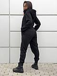 Комбинезон женский зимний на флисе чёрный, фото 7