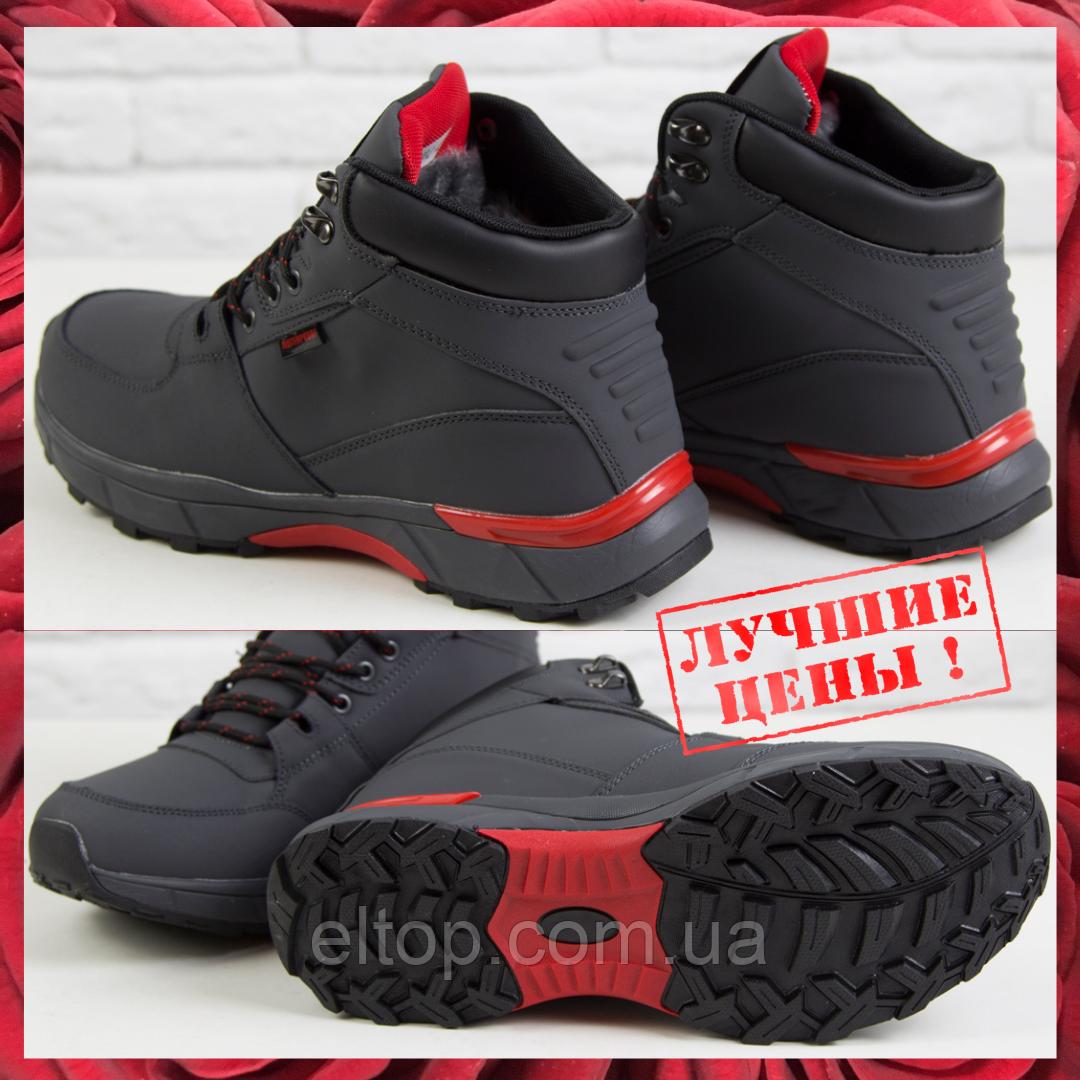 Повседневные ботинки кроссовки мужские зимние на меху Теплые мужские кроссовки из нубука Supo размер 41 - 46