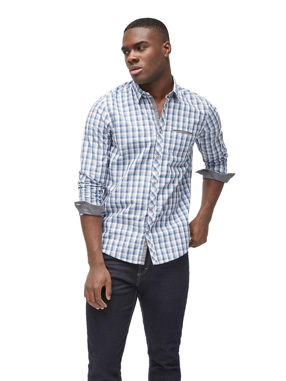 Рубашка Tom Tailor 20339380010 M Голубой