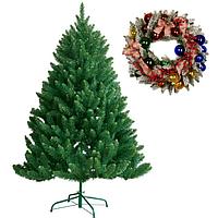 Искусственные елки и венки