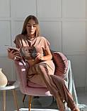 Піжама трійка жіноча футболка + шорти + штани, фото 2