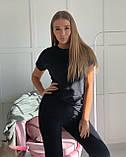 Піжама трійка жіноча футболка + шорти + штани, фото 5