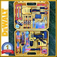 Шуруповерт DeWALT DCD791 (24V 5A/h Li-Ion) c большим набором инструментов. Аккумуляторный шуруповёрт Деволт