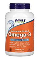 Омега 3 Now Foods Omega-3 (200 капс) Оригинал из США!