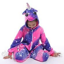 Кигуруми пижама Единорог Магический детский, кигуруми Единорог Магический для деток / Kig - 0056