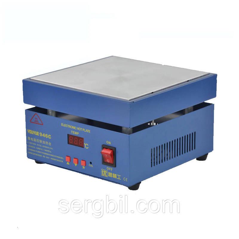 946C нагревательный стол для smd пайки 200х200мм 50-350С 800Вт  220В
