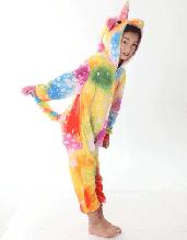 Детский Кигуруми пижама Единорог Пятнистый сплошной, кигуруми Единорог Магический для деток / Kig - 0057