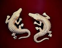 """Оригинальные серьги """"Крокодил""""  от студии LadyStyle.Biz, фото 1"""