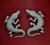 """Оригинальные серьги """"Крокодил""""  от студии LadyStyle.Biz"""