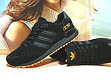 Кроссовки мужские Adidas ZX 750  черно-оранжевые 44 р., фото 3