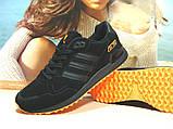 Кроссовки мужские Adidas ZX 750  черно-оранжевые 44 р., фото 4