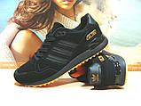 Кроссовки мужские Adidas ZX 750  черно-оранжевые 44 р., фото 5