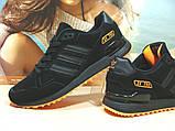 Кроссовки мужские Adidas ZX 750  черно-оранжевые 44 р., фото 6