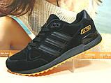 Кроссовки мужские Adidas ZX 750  черно-оранжевые 44 р., фото 7
